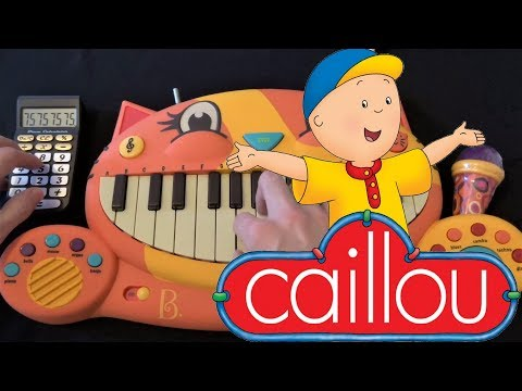 CAILLOU THEME SONG ON A CAT PIANO AND A DRUM CALCULATOR