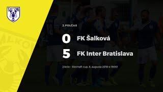 2.polčas, FK Šalková - FK Inter Bratislava, 2.kolo Slovnaft cup, 8.8.2018 o 19:00