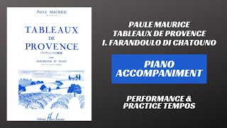Paule Maurice – Tableaux de Provence, mvt. I (Piano Accompaniment)