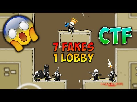 Mini Militia CTF 7 FAKES😱!! 1 LOBBY Capture The Flag GAMEPLAY!! | Doodle Army 2: Mini Militia #54