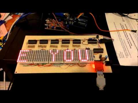 Making a 8x40 LED matrix marquee using shift registers - Embedded Lab