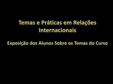 Começo X Final Curso Relações Internacionais de YouTube · Duração:  12 minutos 50 segundos