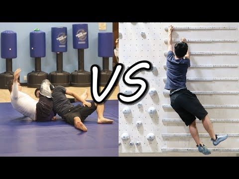 Brazilian Jiu-jitsu VS Rock Climbing (WORKOUT CHALLENGE!)