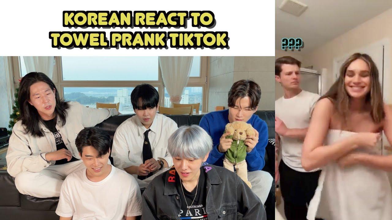 KOREAN REACT TO Towel Prank TikTok Compilation