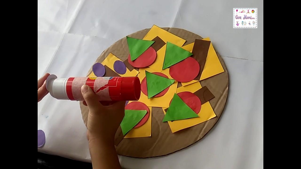 Pizza Geometrica Actividad Con Figuras Geometricas Para Ninos De