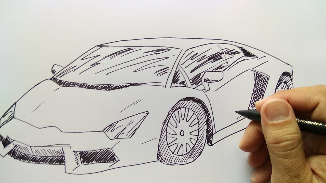 Cara Menggambar Mobil Lamborgini