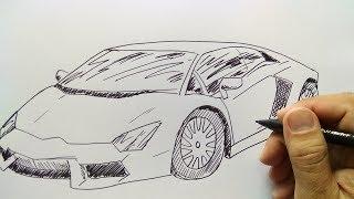 Cara Menggambar Mobil Lamborgini Youtube