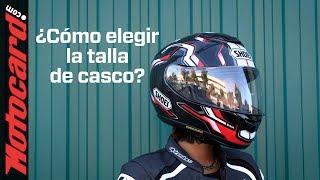 ¿Qué TALLA DE CASCO de moto ELEGIR?