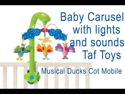 Baby Carusel with lights and sounds Taf Toys with musical duks mobile