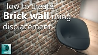 Vray Displacement Tutorial How To Create A Brick Wall Material In Vray Youtube