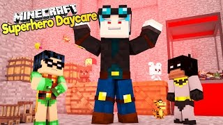 Minecraft EVIL DanTDM Steals Toys From The Daycare! Baby Batman and Baby Robin