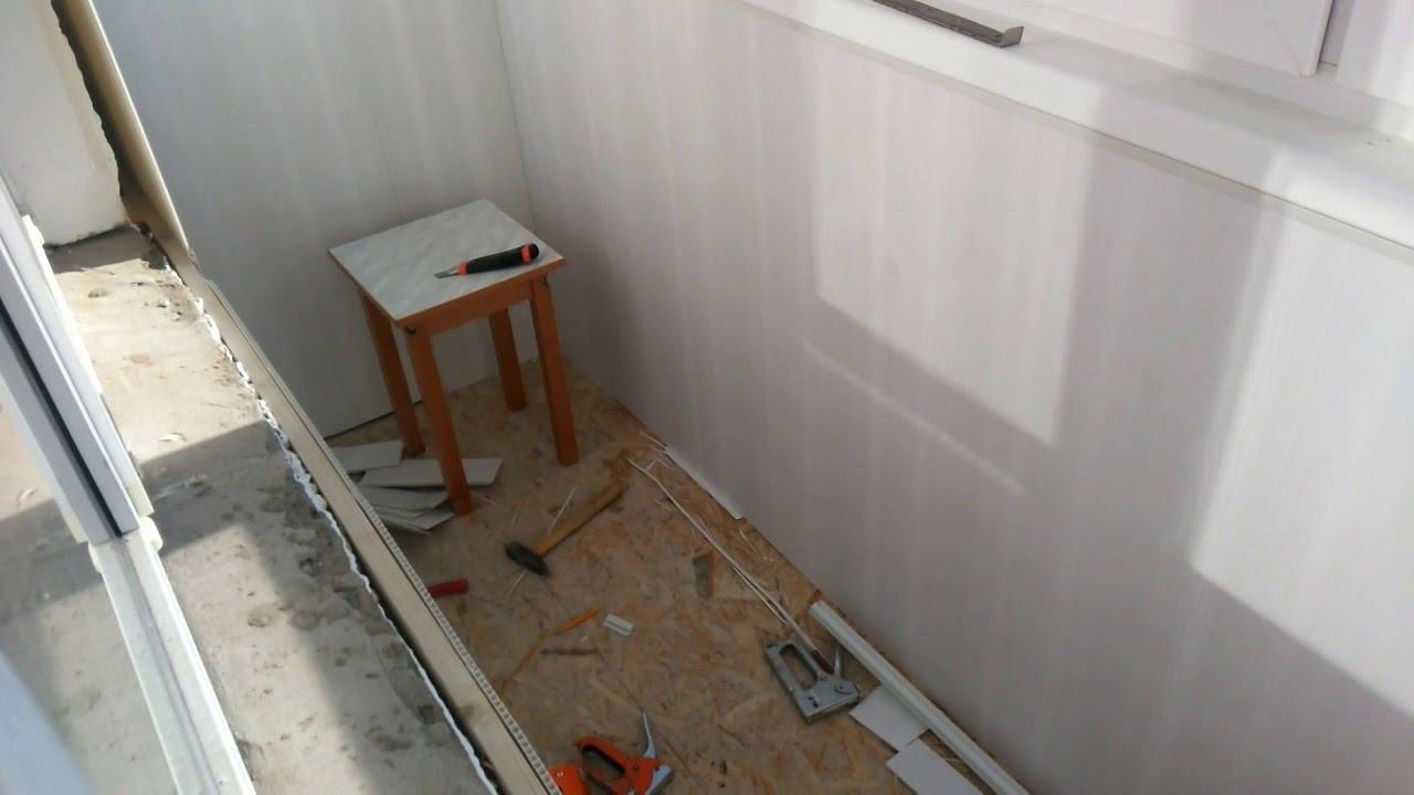 Отделка балкона,лоджии пвх панелями , своими руками - flix.p.