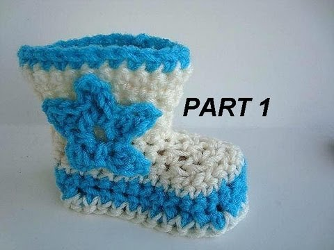 Crochet Cowboy Boots Part 1 3 To 6 Months How To Youtube