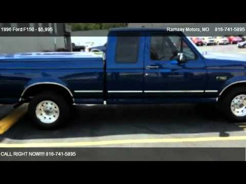 Lifted Ford F150 For Sale >> 1996 Ford F150 XLT - for sale in Riverside, MO 64150 - YouTube