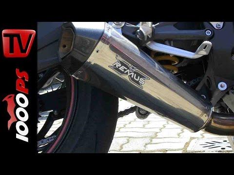 Triumph Daytona 675R Remus Anlage   Abstimmung am Prüfstand