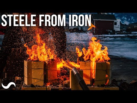 MAKING STEELE FROM IRON!!!