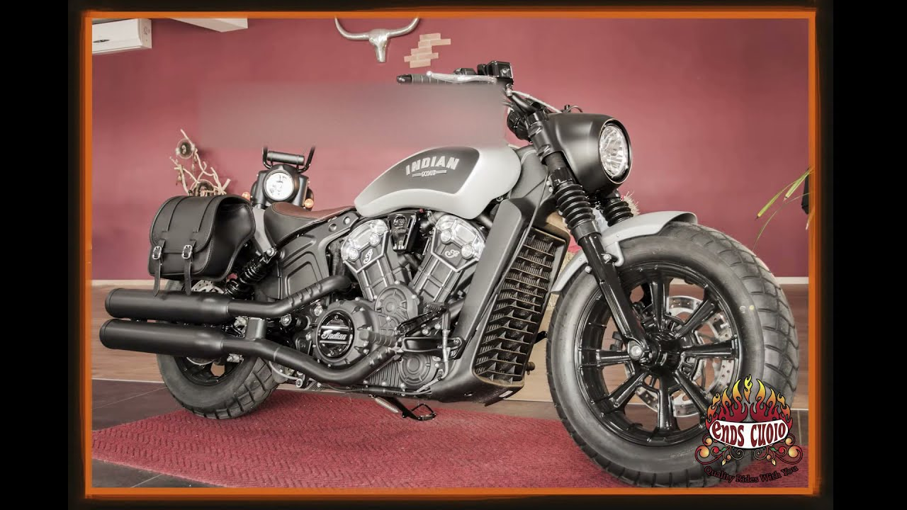 For 2018/2019 Indian® Scout Bobber® - Leather Saddlebag Cherokee by Ends  Cuoio
