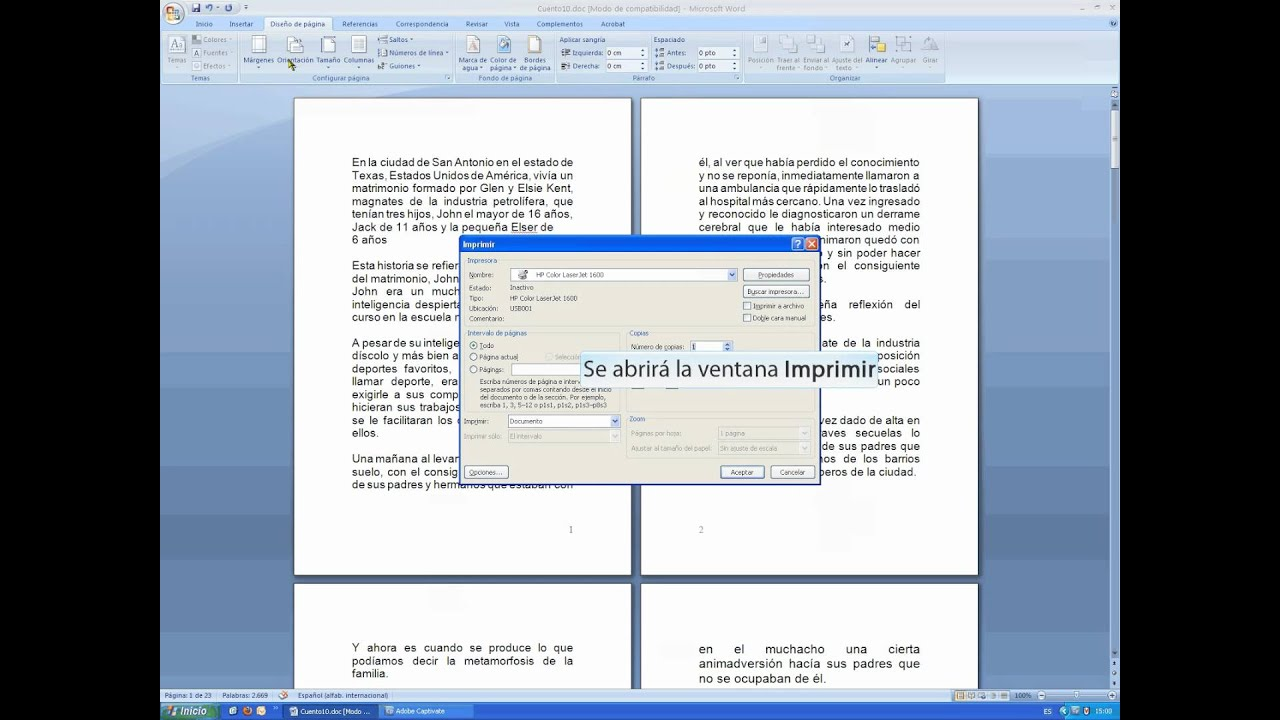 Libro en Word - YouTube