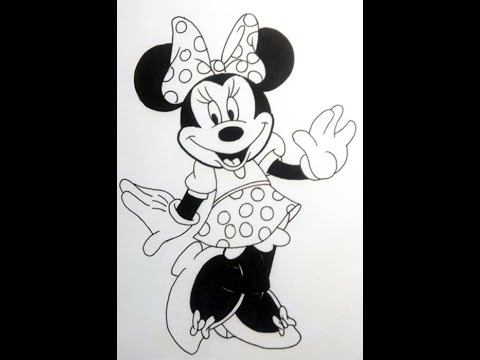 Como Dibujar A Mimi How To Draw Minnie Mouse From Disney By Justcartoons