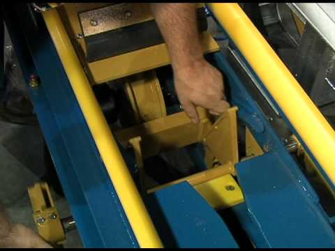 SONNY'S Car Wash Equipment - Banana Peel Rail Conveyor