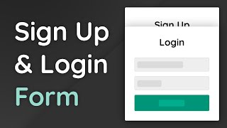 How To Build A Login & Sign Up Form With HTML, CSS & JavaScript