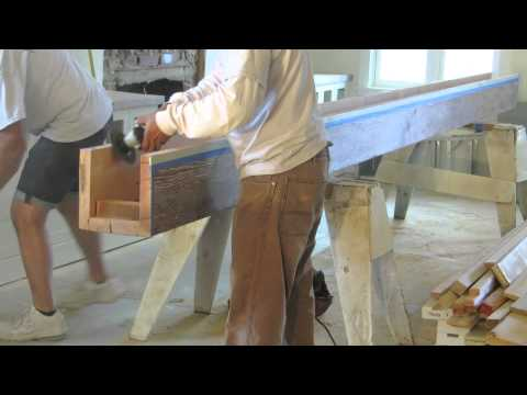 Reclaimed Wood - Installing Box Beams