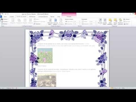Como Hacer Bordes De Pagina Personalizados En Word 2010