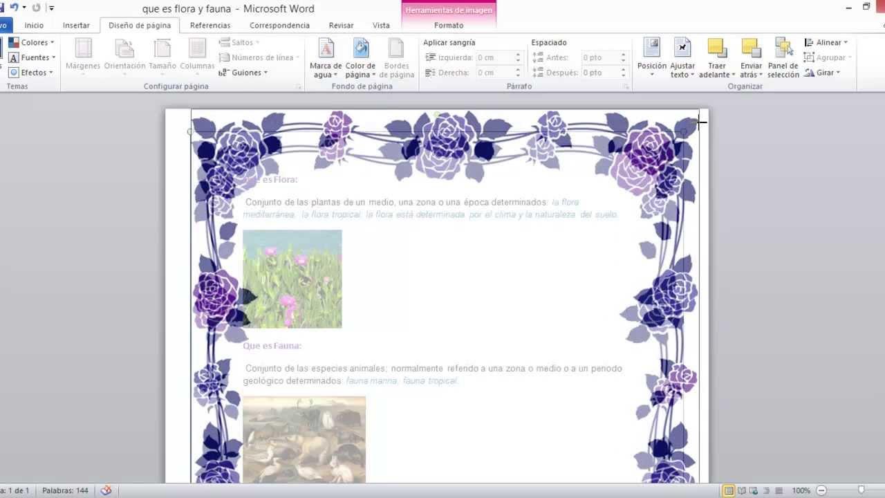 Como hacer Bordes de pagina personalizados en Word 2010 - YouTube