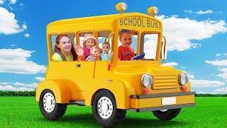 Las Ruedas del Autobus Cancion   Canciones Infantiles con Alex y Nastya
