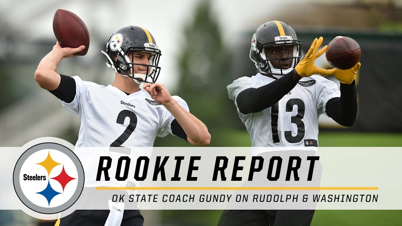 sports shoes 8ab4a 984e6 Oklahoma State Coach Gundy on Mason Rudolph, James Washington | Pittsburgh  Steelers