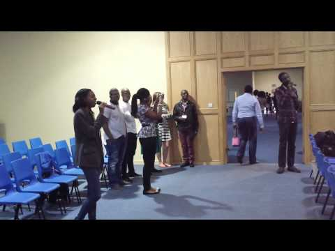He's Able song mob at El Shaddai Bradford