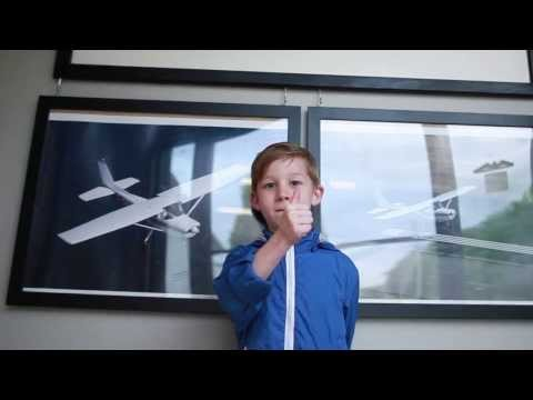 5 year old lands a twin engine plane! (sort of :)