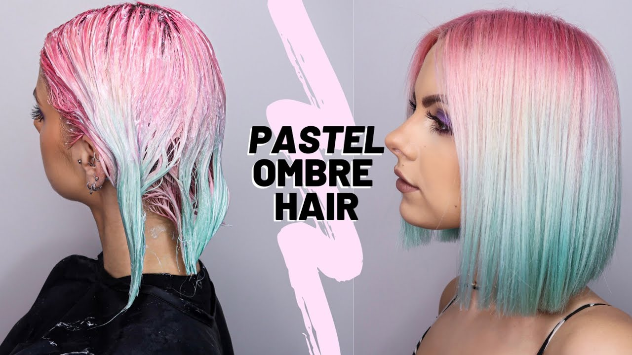diy pink blue ombre hair dye