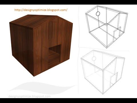 Planos construir casa para perro con madera tableros de - Planos de casas de madera ...