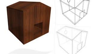 Planos: Construir casa para perro con madera, tableros de 18 mm Planos