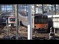 高架からの坂を下って東急長津田駅に到着する田園都市線上り東武50050系