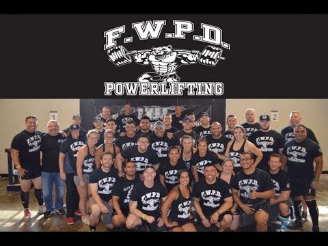 FWPD Powerlifting---Back the Blue to China