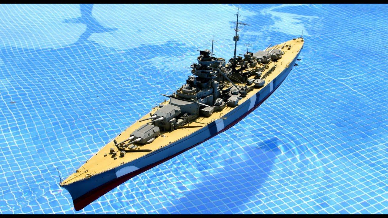 model 1/200 maquette du Bismarck