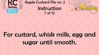 Apple Custard Pie No. 2 - Kitchen Cat