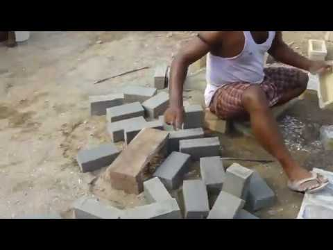 how to make cement bricks easily