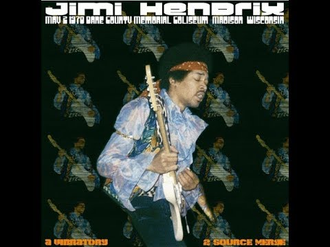 Jimi Hendrix- Dane County Memorial Coliseum, Madison, Wisconsin 5/2/70
