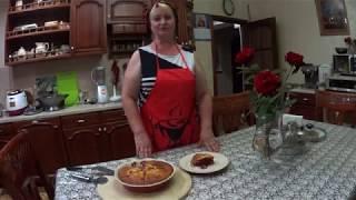 КЛАФУТИ С ВИШНЕЙ И ЧЕРНОЙ СМОРОДИНОЙ  ПО РУССКИ (очень вкусный десерт).