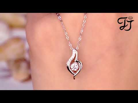 925 Sterling Silver Dancing CZ Stone Locket Necklace-Best Mothers Day Gifts 2018