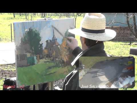 José SALVAGGIO plein air painting 10 Bettancourt-la-Ferrée