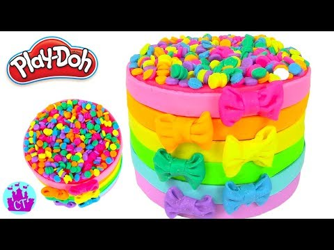 Thumbnail: How to Make Play Doh Food Creations Rainbow Cakes and Cupcakes - Castle toys Compilation 1