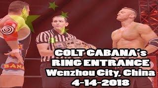 Colt Cabana's Entrance - Wenzhou, China - NWA Title Defence