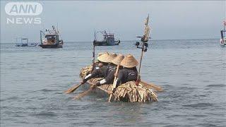 3万年前の航海を再現 丸木舟で台湾から与那国島へ(19/07/08)