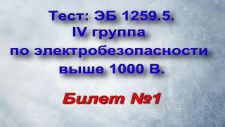 БИЛЕТЫ по Электробезопасности IV группа выше 1000 В. Билет 1