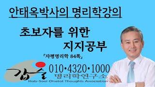 초초보를 위한 지지공부-(자평명리학84쪽)-갑술명리학-안태옥박사의 사주팔자강의