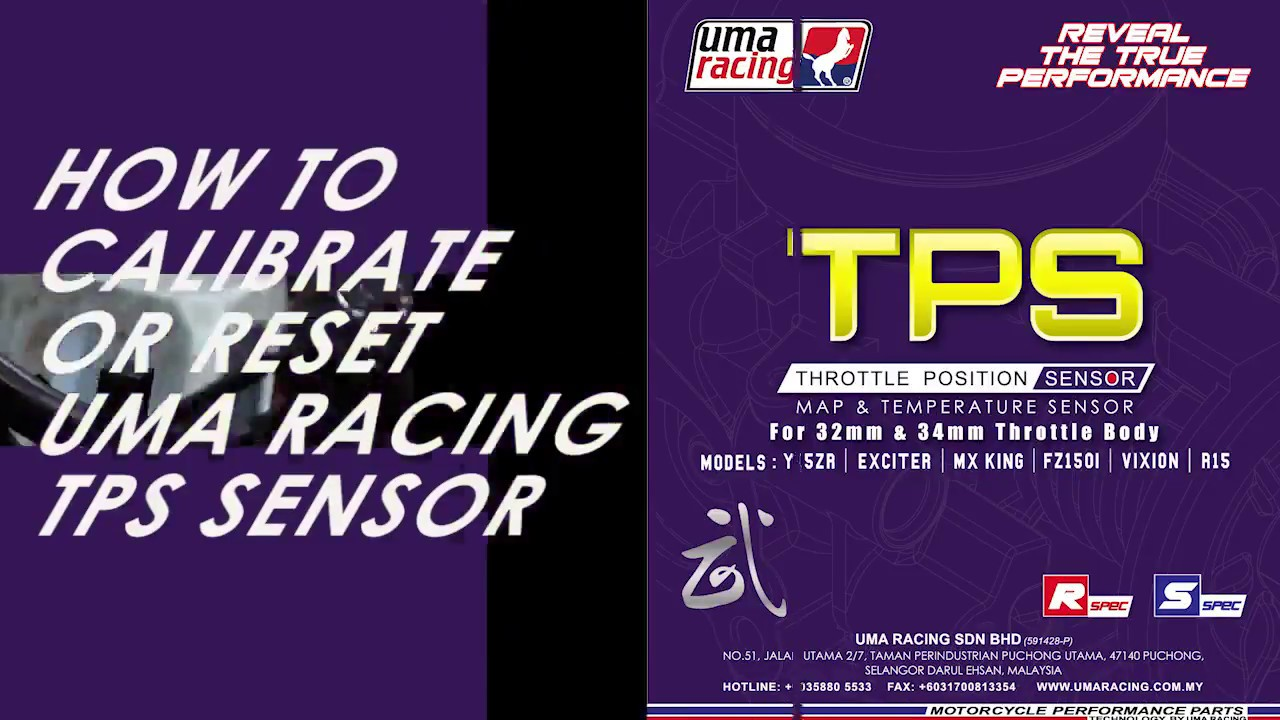UMA RACING TPS Calibration